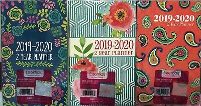 "2019 -2020 two year Weekly Planner Calendar  5"" x 8"" colors may vary"