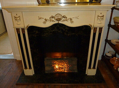 Vintage Fireplace Mantle,Old Home Decor,With Base or Against your fireplace,Logs