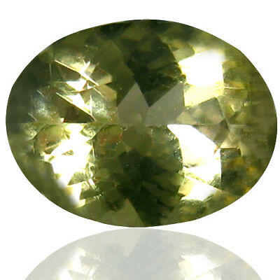 0.68 ct Round Cut (7x5 mm) Green Apatite Stone-YEAR END CLEARANCE SALE-FREE SHIP
