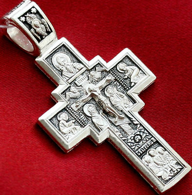 Russian Orthodox Cross, Silver 925.Lord Almighty Crucifix. Blessed.new. Sale !!!