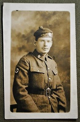WWI Scottish Medical Corps Soldier - RPPC