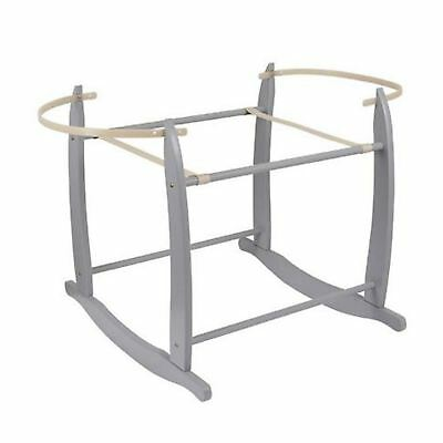 Clair De Lune Deluxe Rocking Moses Basket Stand With Adjustable Retaining Bars