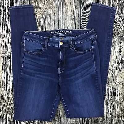 ca849fd7 American Eagle Outfitters 360 Super Stretch Hi Rise Jegging Size 8 X-Long  Jeans