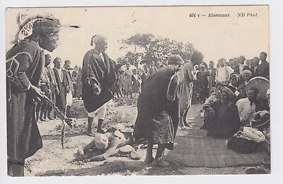 1912 TUNISIA - TUNIS Alssaouas Native Postcard to France