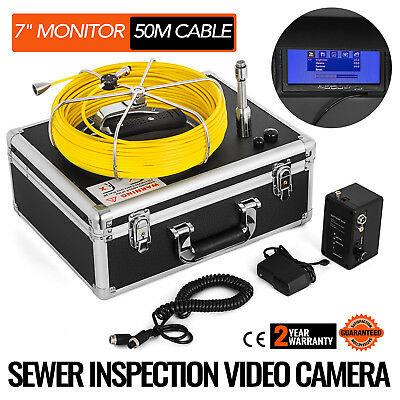 50M Sewer Pipeline Inspection Camera Video Aluminum Spy Holiday Lcd Monitor