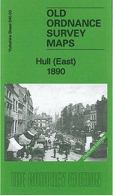 Old Ordnance Survey Map Hull (East) 1890 Coloured Edition
