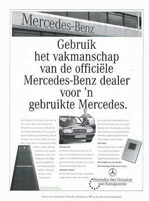 1996 Mercedes-Benz W201 190 Ster Occasion (Dutch, 1pg.) Advertisement (AAC.040)