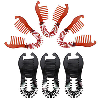 6.3x2.8 inches Interlocking Banana Hair Clip French Side Comb Holder Set 6