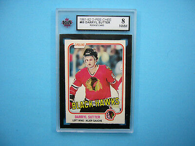 1981/82 O-Pee-Chee Nhl Hockey Card #165 Darryl Sutter Rookie Ksa 8 Nm/Mt Opc