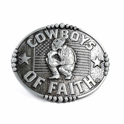 ✖ WESTERN STEER Cowboys of Faith Rodeo Style ✖ Belt Buckle Buck ✖ USA