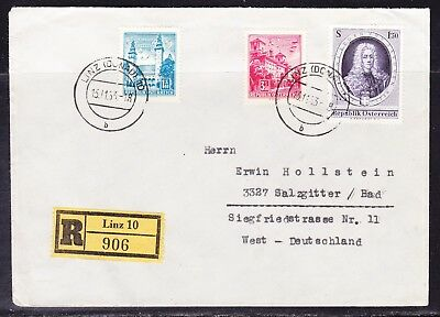 Austria 1963 Reg R906 Letter Linz to Germany