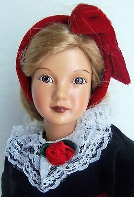"Effanbee Reproduction 14"" CINDY Holiday Christmas Doll MIB Dewees Cochran"