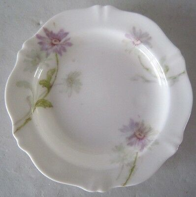 5 Antique Theo Haviland Purple Daisies BUTTER PAT s Schleiger 164b France