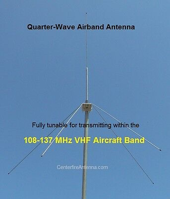 Airband Transceiver Scanner Antenna, VHF Aircraft, , ATC  108-137 MHz Tunable