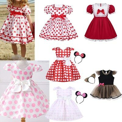 Toddler Baby Girls Princess Polka Dots Tutu Dress Cosplay Tulle Party Costume