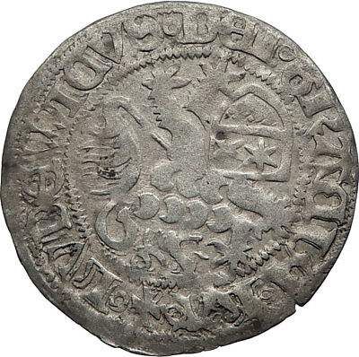 1458-1471 GERMANY German States HESSE under Ludwig II Antique Silver Coin i73786