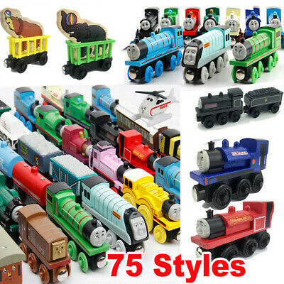 Kids The Tank Engine Take-n-Play Engines & Carriages Magnetic Wooden Trains Toy*