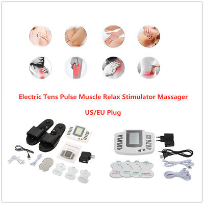 4 Pads Electric Muscle Relax Stimulator Massager Tens Pulse Therapy Machine M7U6