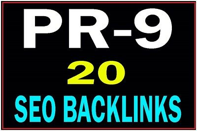 20 PR9 TOP QUALITY Backlinks from PR 9 High Authority Sites Google Friendly SEO