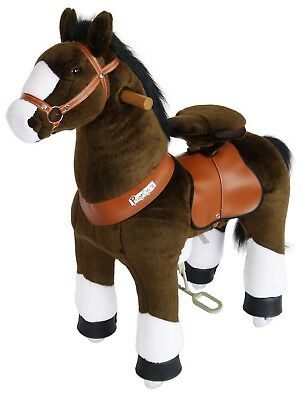 PonyCycle Kids Manual Ride on Horse Small 3-5 Year Chocolate Brown w/ White Hoof