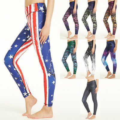 8396003dd1 COOLOMG Women's Yoga Running Pants Printed Compression Leggings Workout