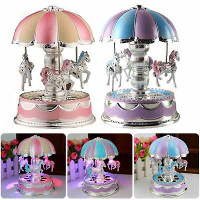 Music Box Merry-Go-Round LED 6 7 8 9 10 12 Year Old Birthday Toy Gift for Girls