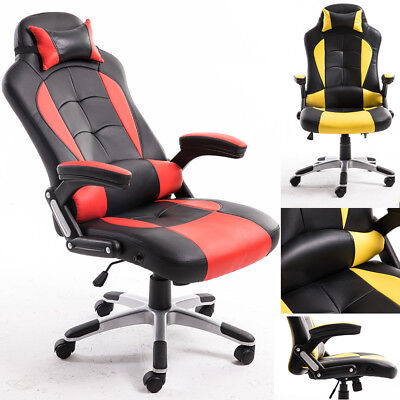 Recliner Computer Chair Office Gaming Sports Racing Home Armrest Adjustable Seat