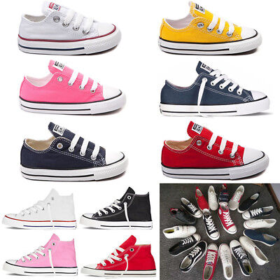 Kid Boy Unisex Chuck Taylor High Low Top Shoes Casual Canvas Athletic Sneakers