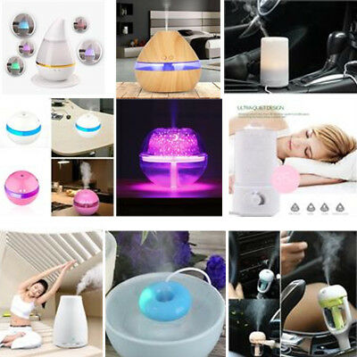 USB Ultrasonic Aroma Humidifier Essential Oil Diffuser Aromatherapy Purifier LED