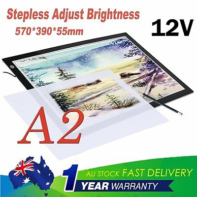 A2 LED Tracing Light Box Stencil Drawing Board Pattern Art Design Pad Xmas GIft