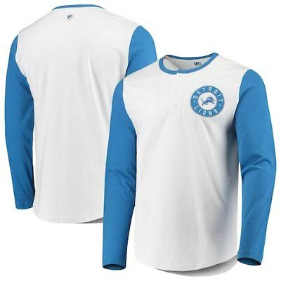 Detroit Lions G-III Sports by Carl Banks Tradition Henley Long Sleeve T-Shirt -