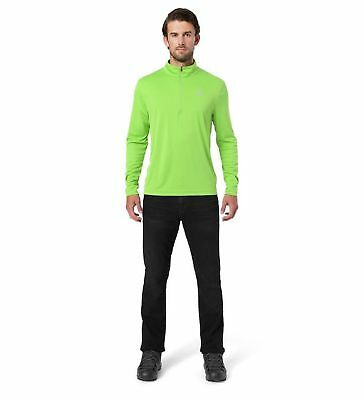 Spyder Herren Skirolli Sweatshirt Limitless Solid Zip Dry Web T-Neck grün fresh