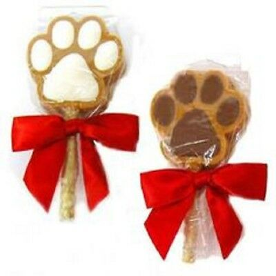1 Claudia's Canine Bakery PEANUT BUTTER PAW POPS Gourmet Natural Holiday Dog