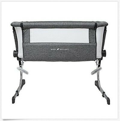 Baby Delight Bedside Me Dreamer Bassinet & Bedside Sleeper in Charcoal Grey