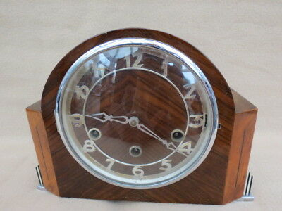 Vintage Art Deco Gufa Westminster Chime Mantel Clock For Tlc