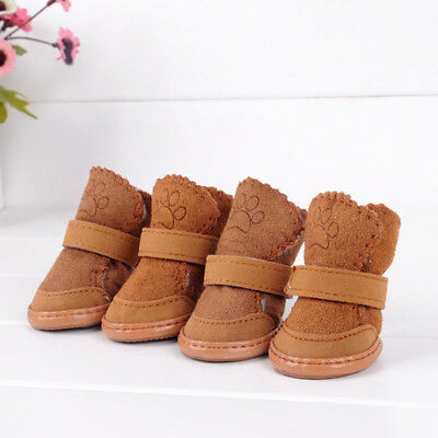 4 Pcs/Set Waterproof Pet Shoes Winter Dog Cat Snow Boots Warm Puppy Booties