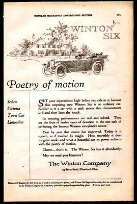 1920 ad for the Winton Six made by the Winton Co. of Cleveland