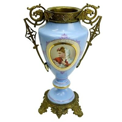 19/20th Century French Sevres style Bronze Mounted Porcelain Vase