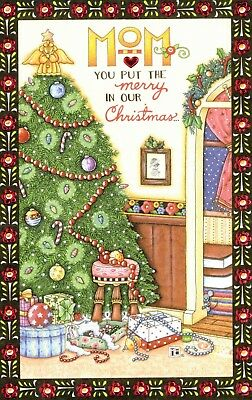 Mary Engelbreit-MOM MERRY IN CHRISTMAS American Greeting Christmas Card-NEW!