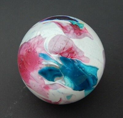 """Vintage Phoenician Glass [Malta] Abstract Paperweight 3"""" ~ Signed/Dated/Labelled"""