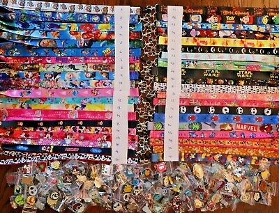 Disney World Pin Trading Lot Lanyard Starter Set With 6 Lanyards and 150 Pins