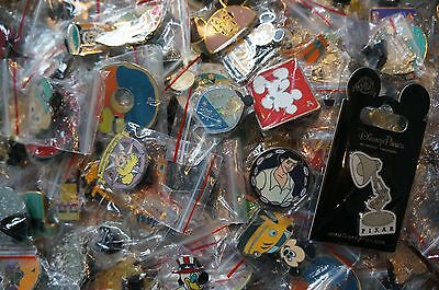 Disney World Land Trading Pins Pin Lot of 25 No Doubles Plus Bonus Pin on Card