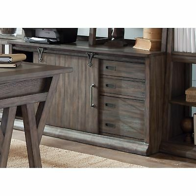 Stone Brook Rustic Saddle Jr. Executive Computer Credenza