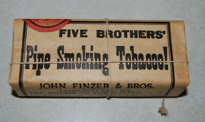 Vintage Five Brothers Pipe Sm Ng Tobacco Package Pouch Sealed W Tax Stamp