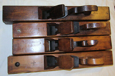 4 Antique Wooden Jack Planes Wood Planes Old Woodworking Planes