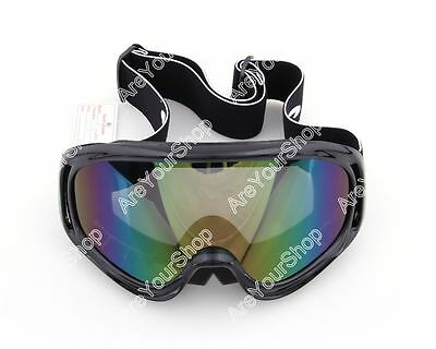Goggles Glasses Motor off road MotoCross Skiing Helmet Snow Eyewear Lens 1# D