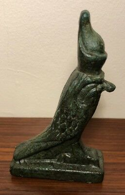 Ancient Romano Egyptian bronze figurine of Horus in the form of a Falcon