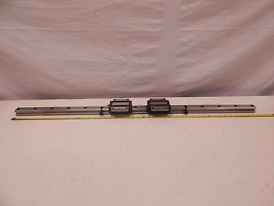"Lot of 2 THK HSR35 Bearings w/ 45""CNC Linear Slide Rails"