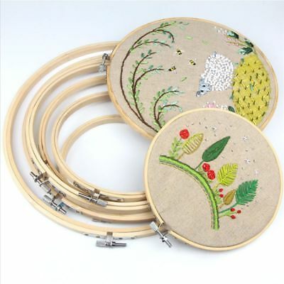 Bamboo Frame Hoop Rings Embroidery Cross Stitch Sewing DIY Accessories 13cm-34cm