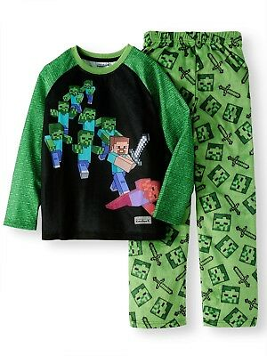 New Minecraft pajamas 2 piece set boys sizes XS S M L XL Minecraft pajamas